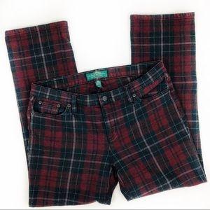 LRL Ralph Lauren plaid pants sz 10p